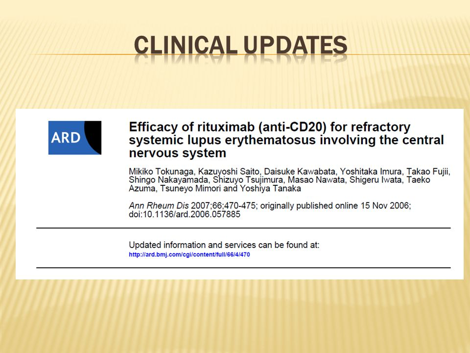 CLINICAL UPDATES