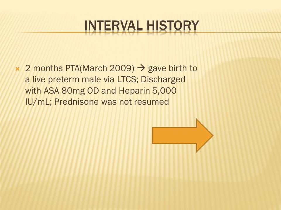 Interval History