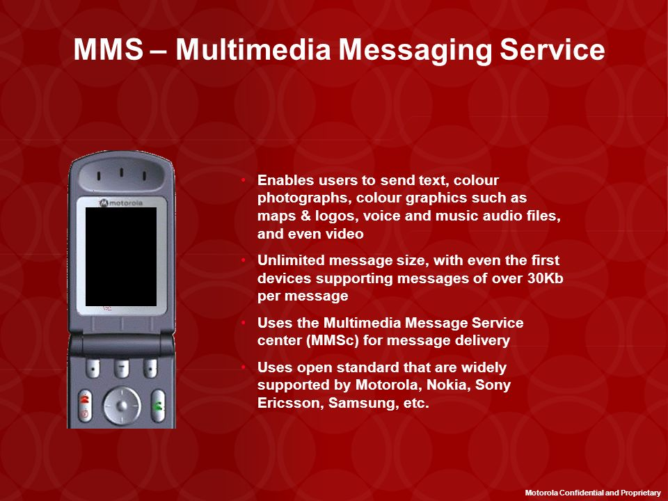 MMS – Multimedia Messaging Service