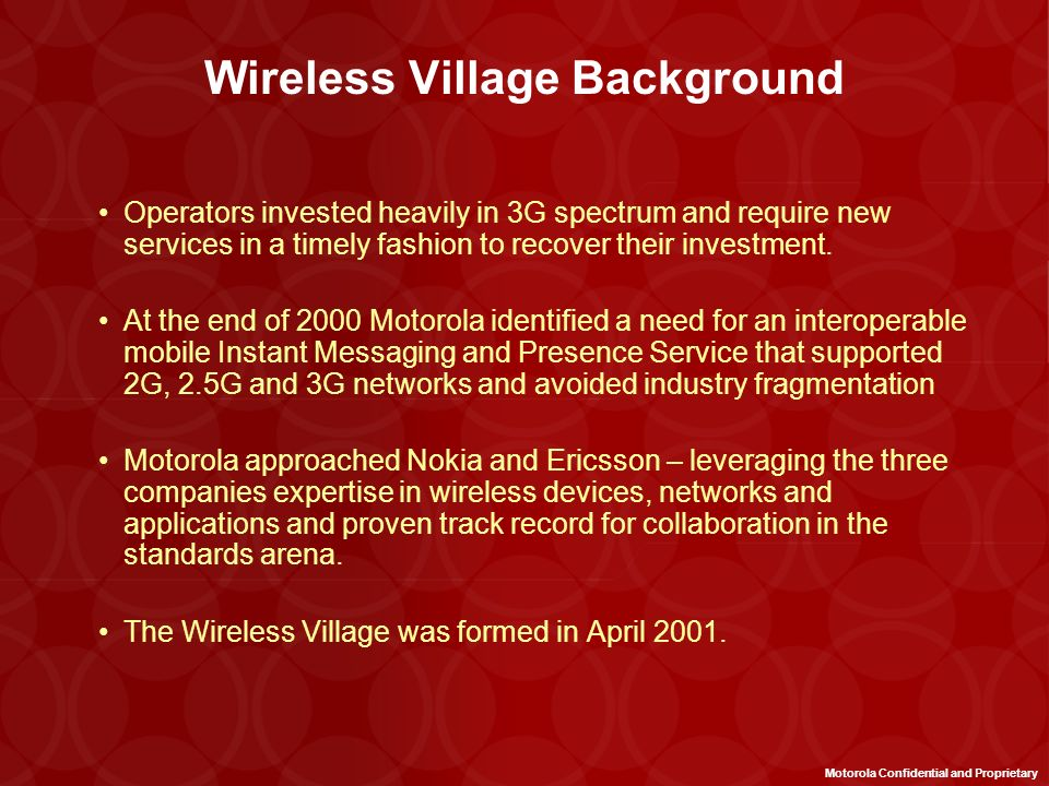 Wireless Village Background