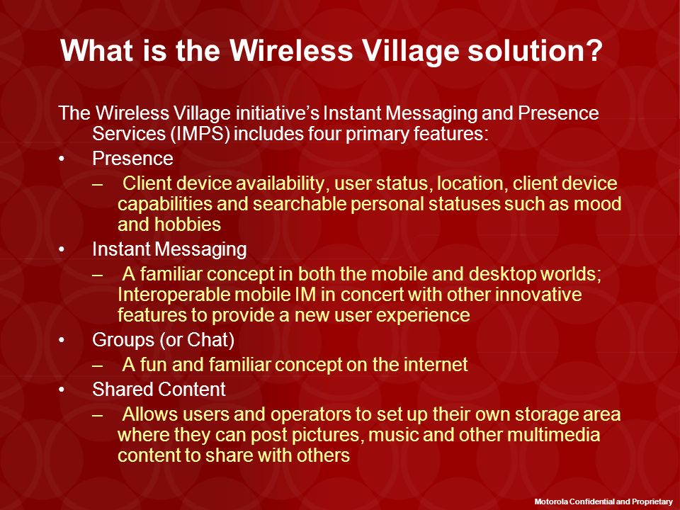 What is the Wireless Village solution