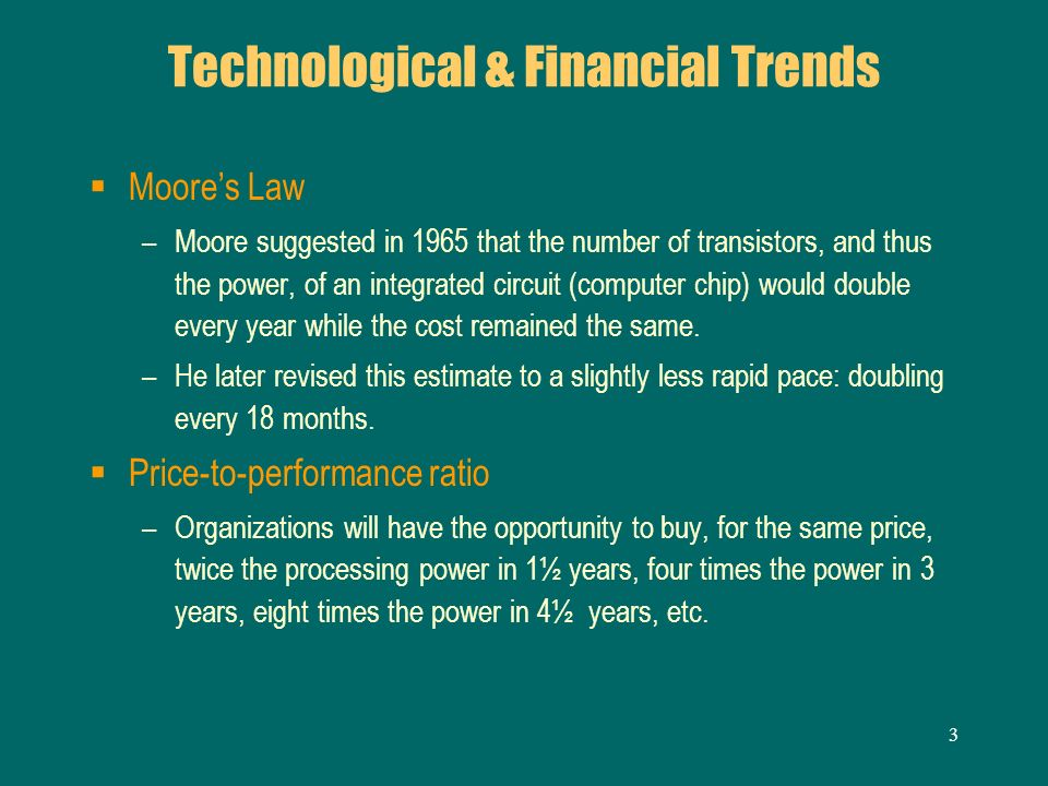 Technological & Financial Trends