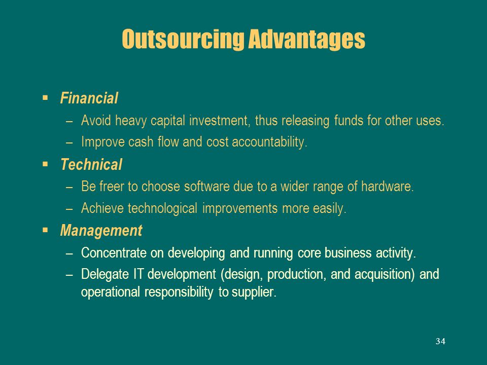 Outsourcing Advantages