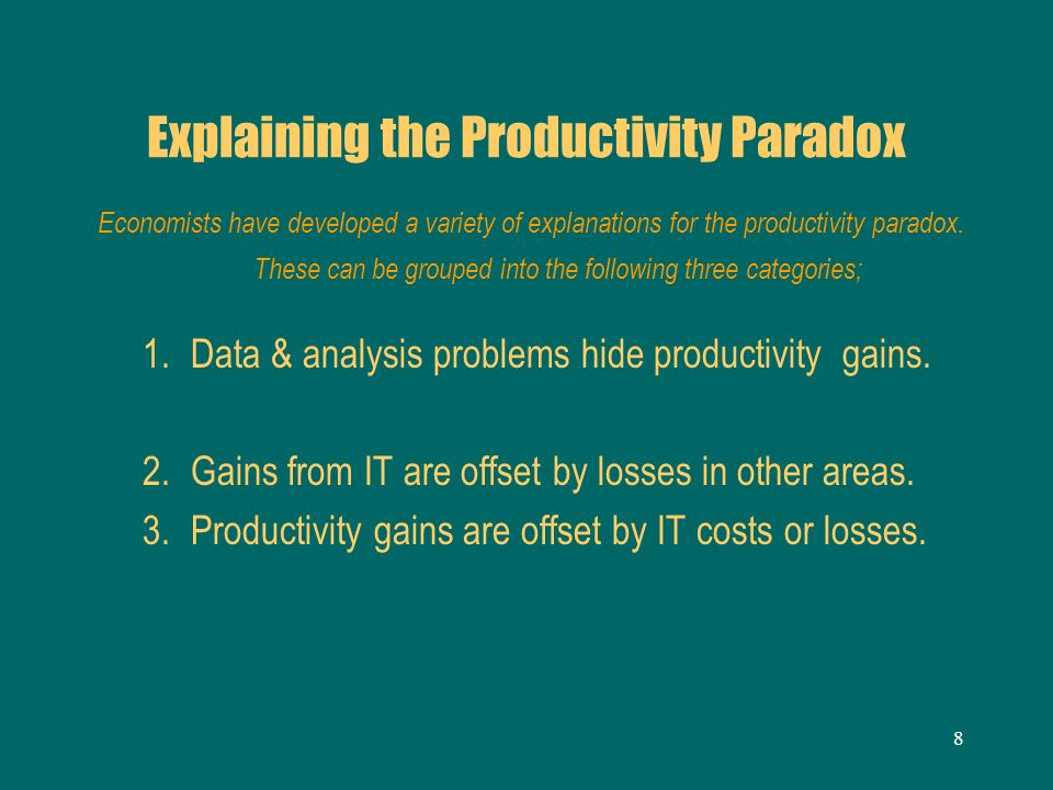 Explaining the Productivity Paradox