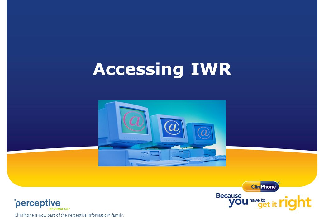 Accessing IWR