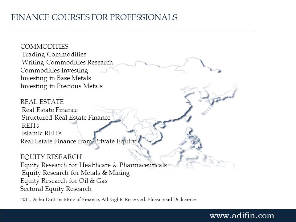 FINANCE COURSES FOR PROFESSIONALS