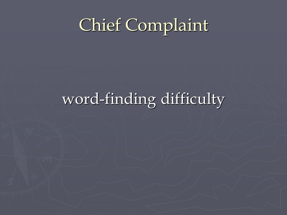 word-finding difficulty