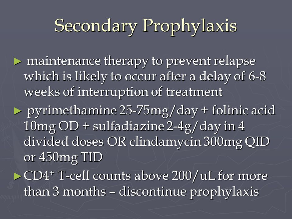 Secondary Prophylaxis