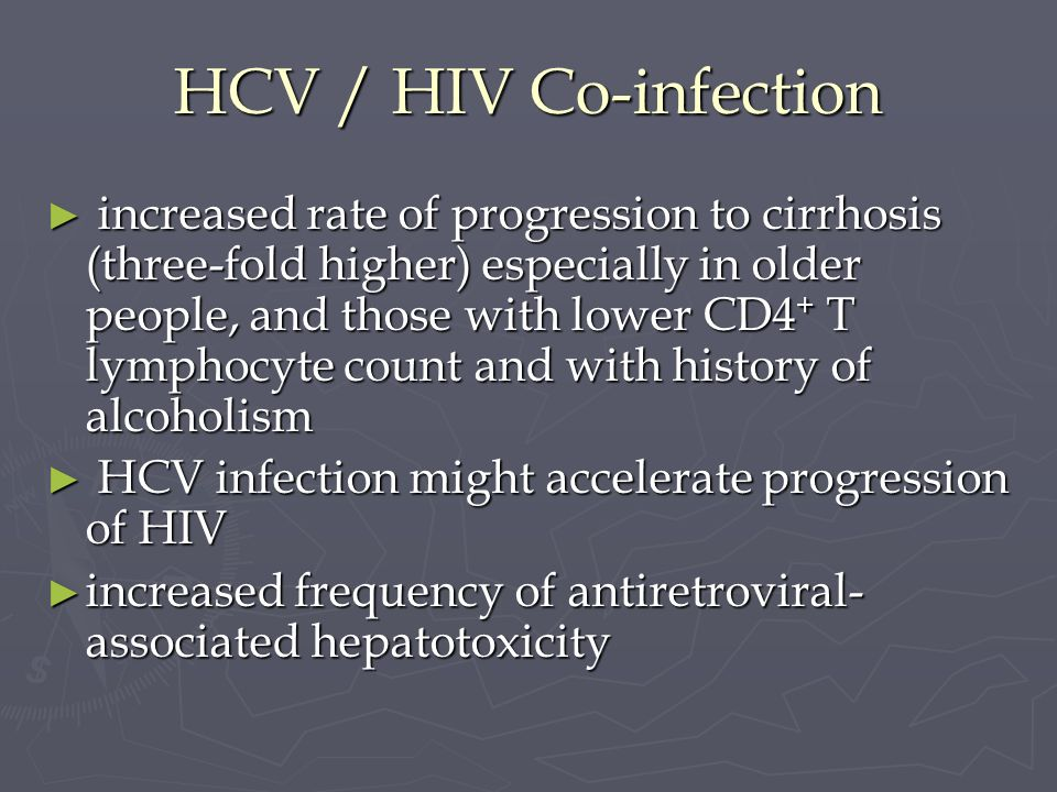 HCV / HIV Co-infection