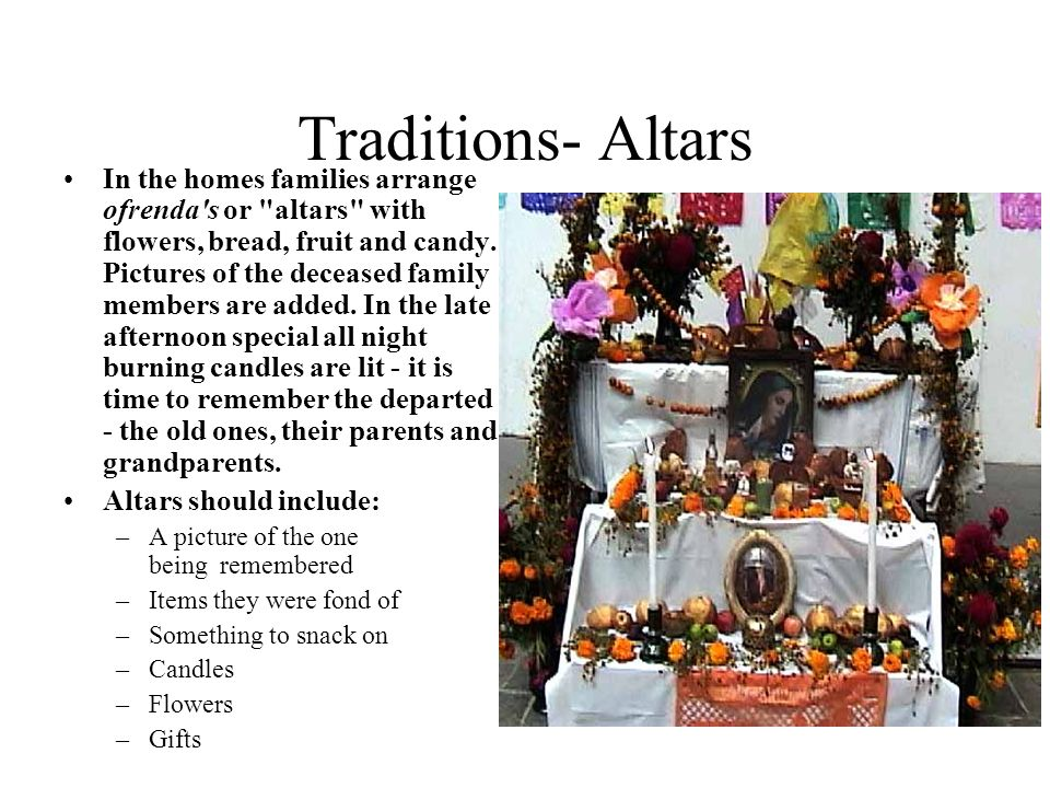 Traditions- Altars