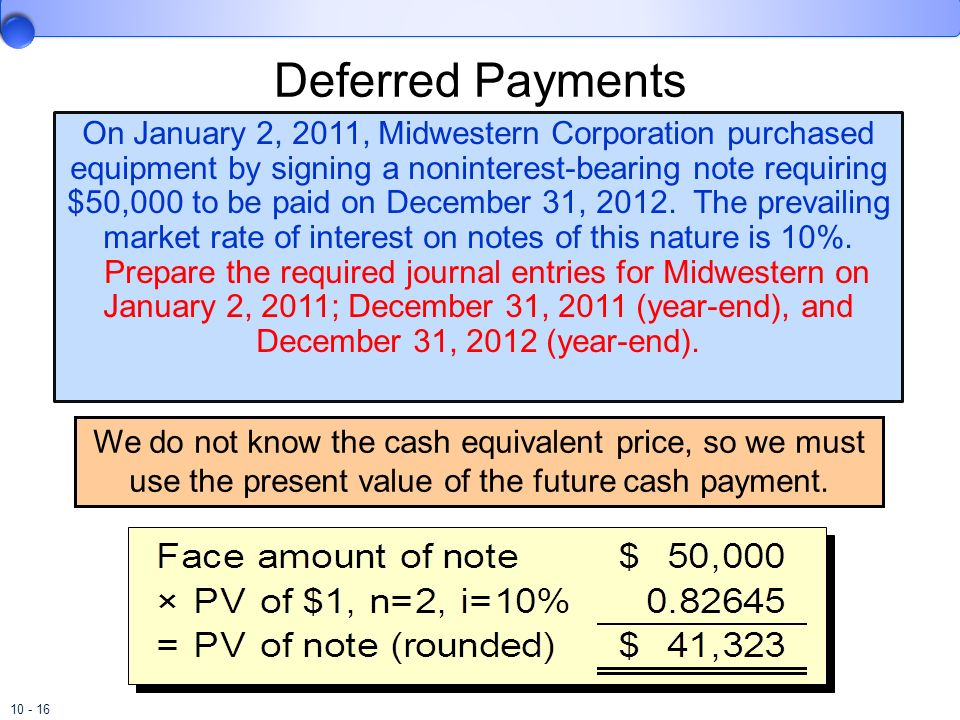 Deferred Payments