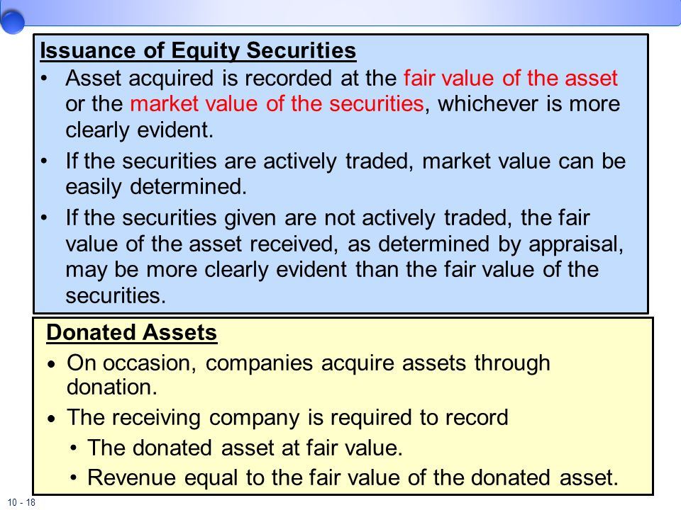 Issuance of Equity Securities