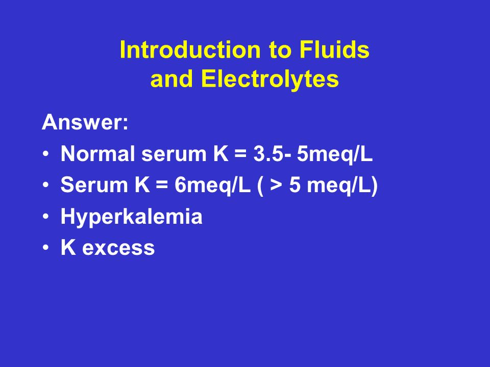 Introduction to Fluids and Electrolytes