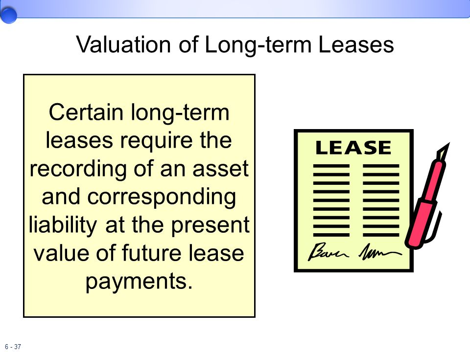 Valuation of Long-term Leases