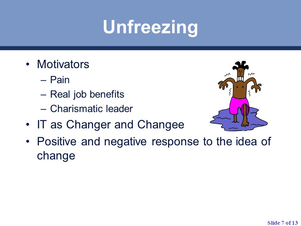 Unfreezing Motivators IT as Changer and Changee