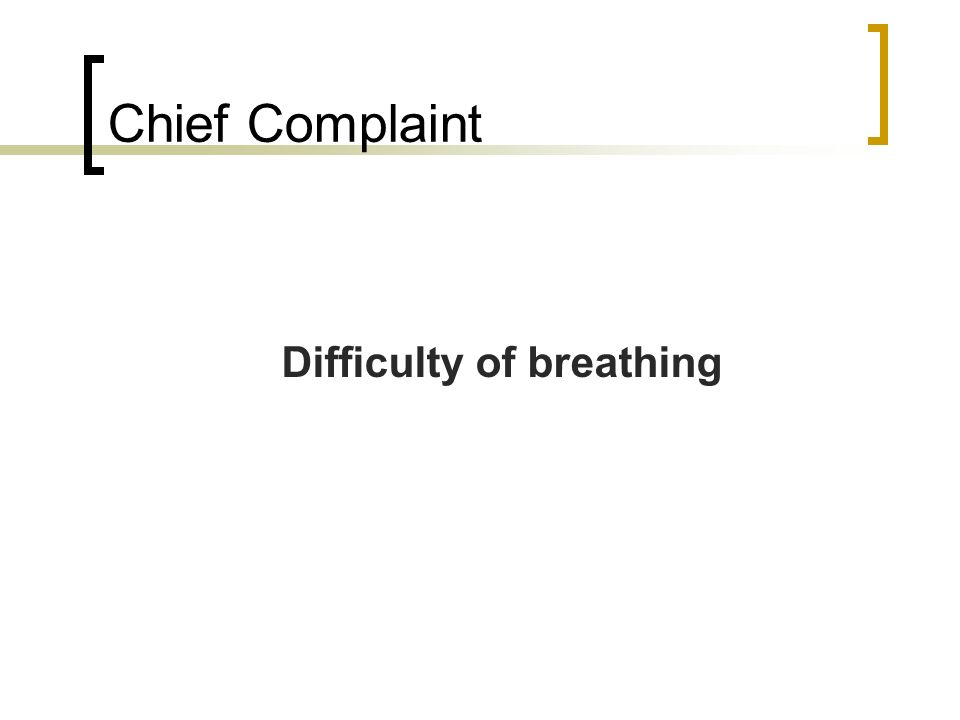 Difficulty of breathing