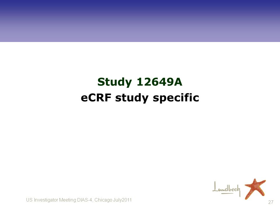 Study 12649A eCRF study specific
