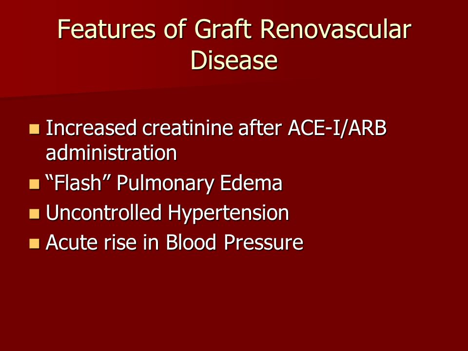 Features of Graft Renovascular Disease