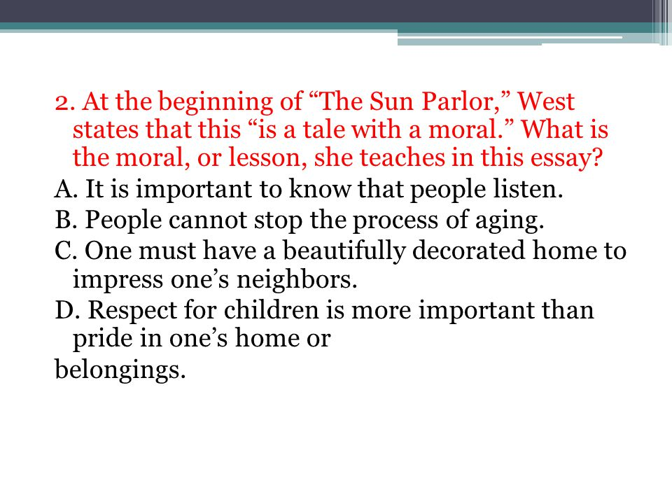 the sun parlor by dorothy west sparknotes
