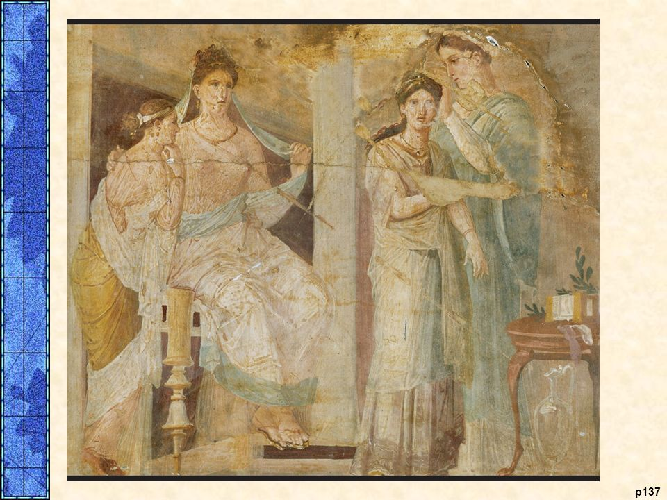 Roman Women. Roman women, especially those of the upper class, had more freedom than women in Classical Athens despite the persistent male belief that women required guardianship. This mural decoration, found in the remains of a villa destroyed by the