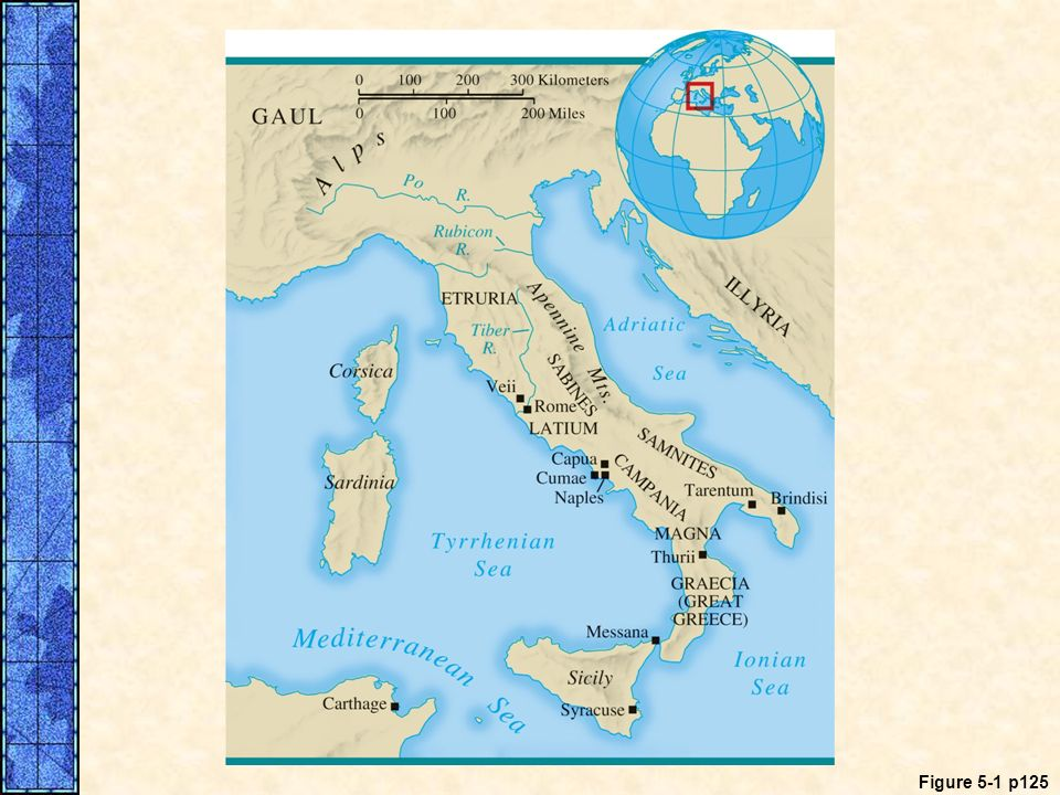 MAP 5. 1 Ancient Italy. Ancient Italy was home to several groups