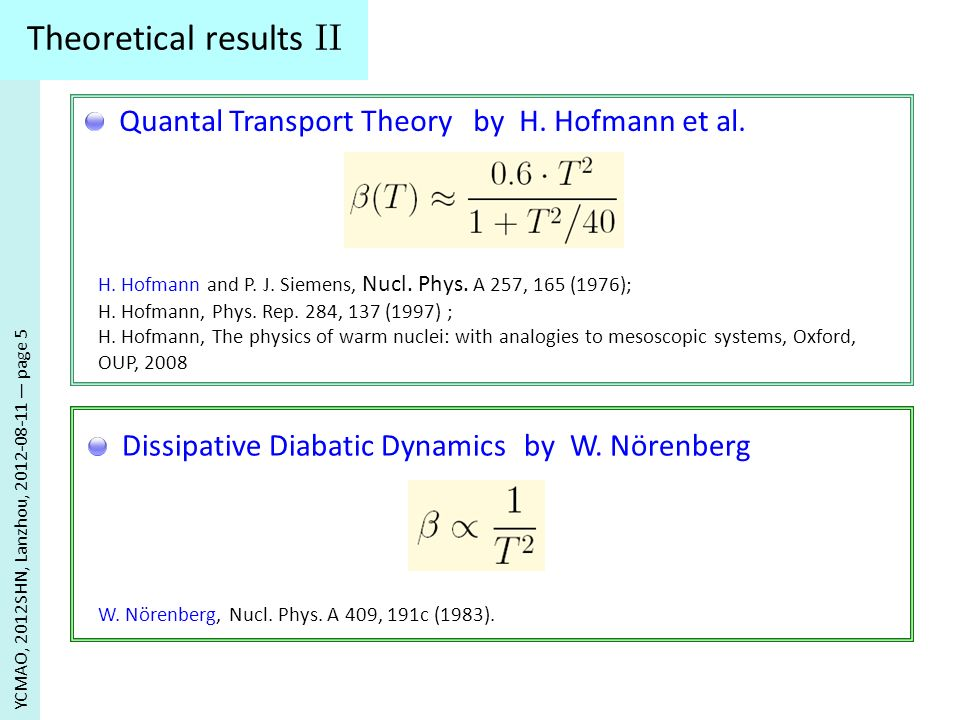 Theoretical results II