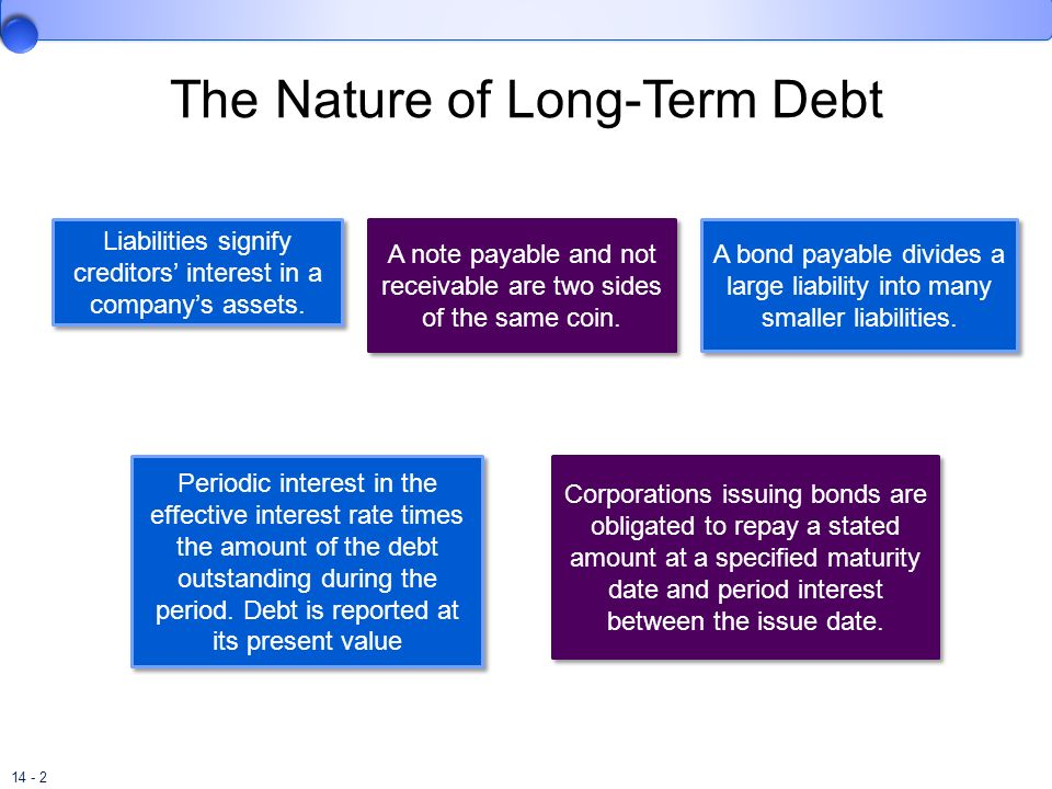 The Nature of Long-Term Debt