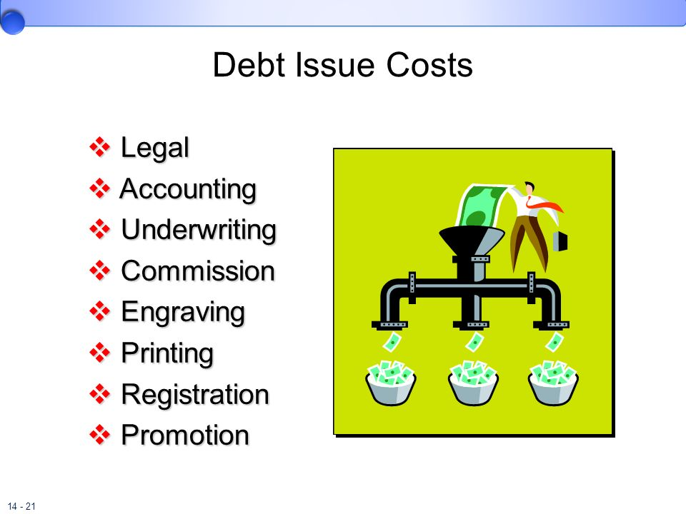 Debt Issue Costs Legal Accounting Underwriting Commission Engraving
