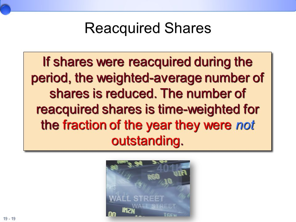 Reacquired Shares