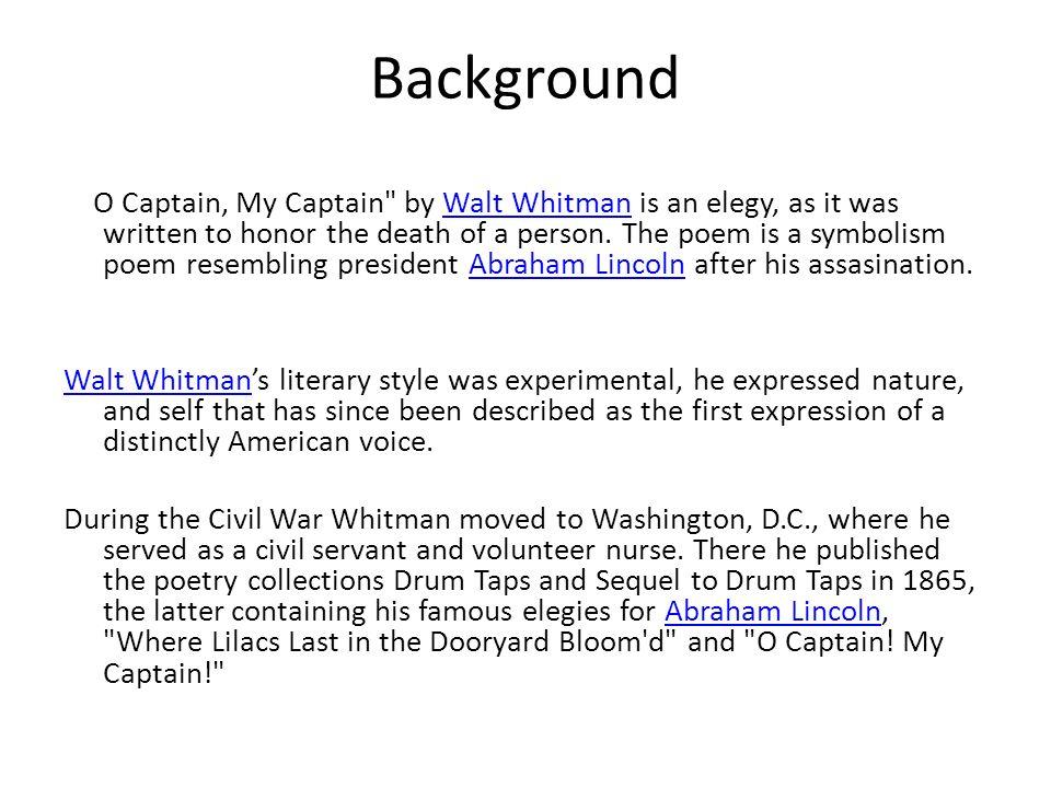 O Captain My Captain Walt Whitman Ppt Video Online Download