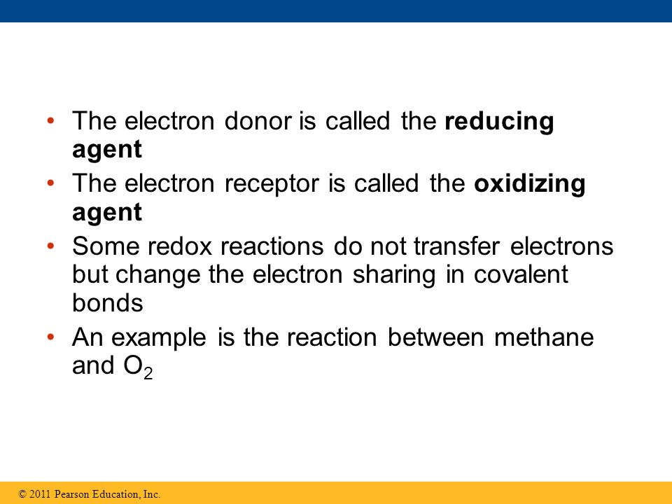 The electron donor is called the reducing agent