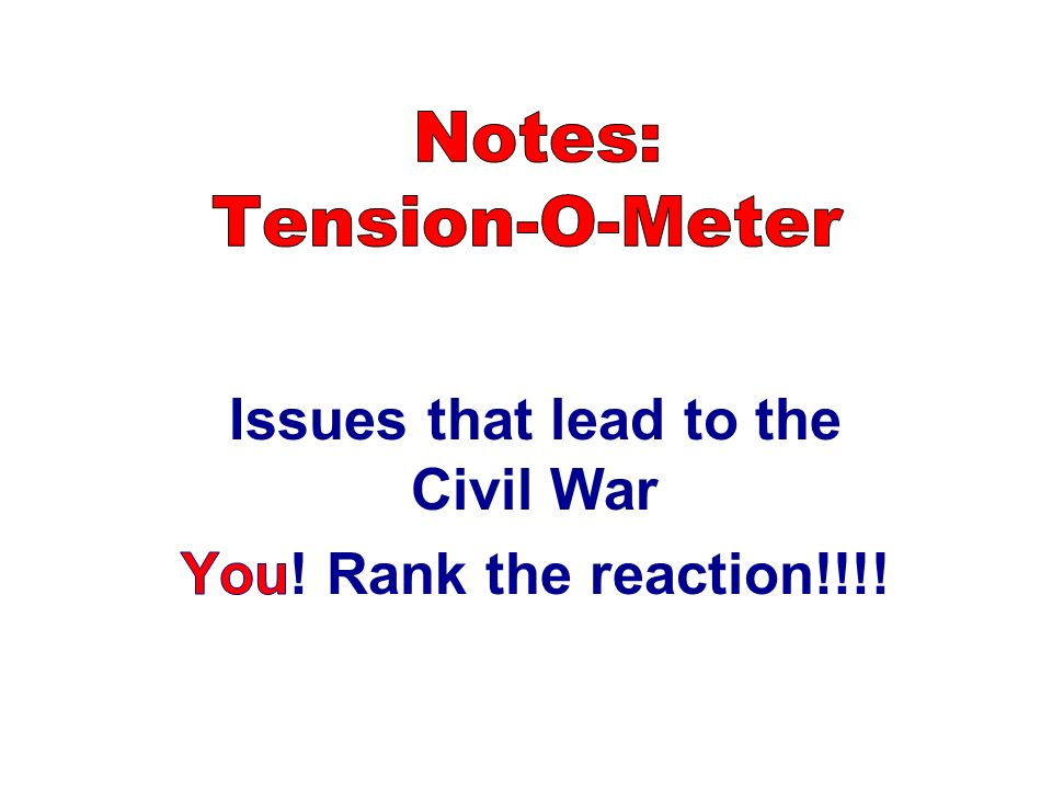 Notes: Tension-O-Meter