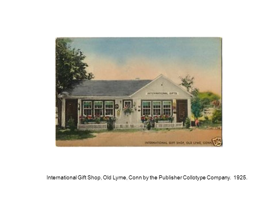 International Gift Shop, Old Lyme, Conn by the Publisher Collotype Company