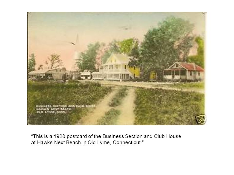 This is a 1920 postcard of the Business Section and Club House