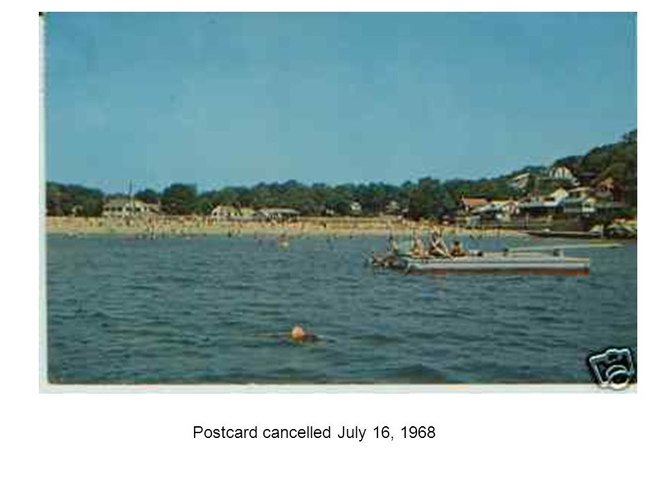 Postcard cancelled July 16, 1968