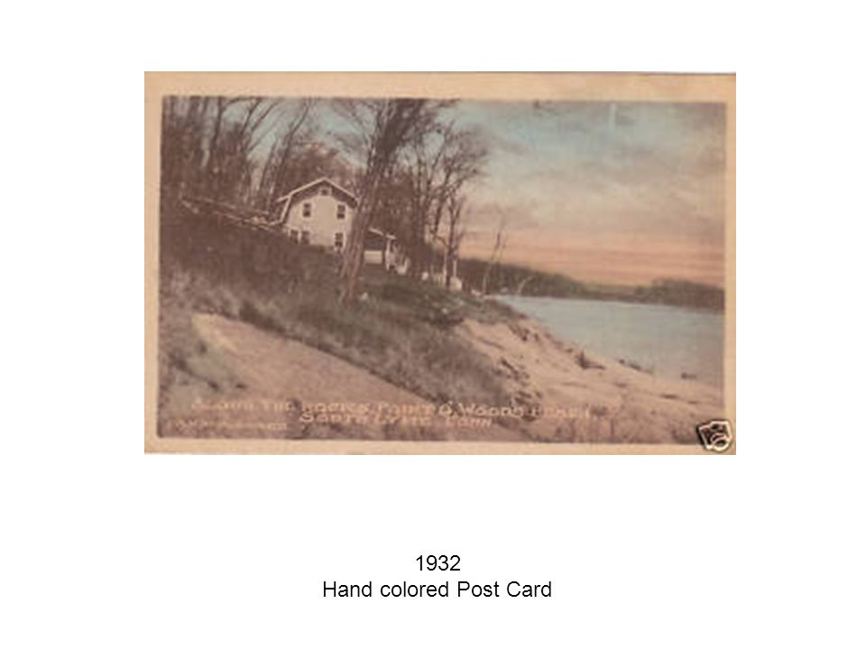 1932 Hand colored Post Card