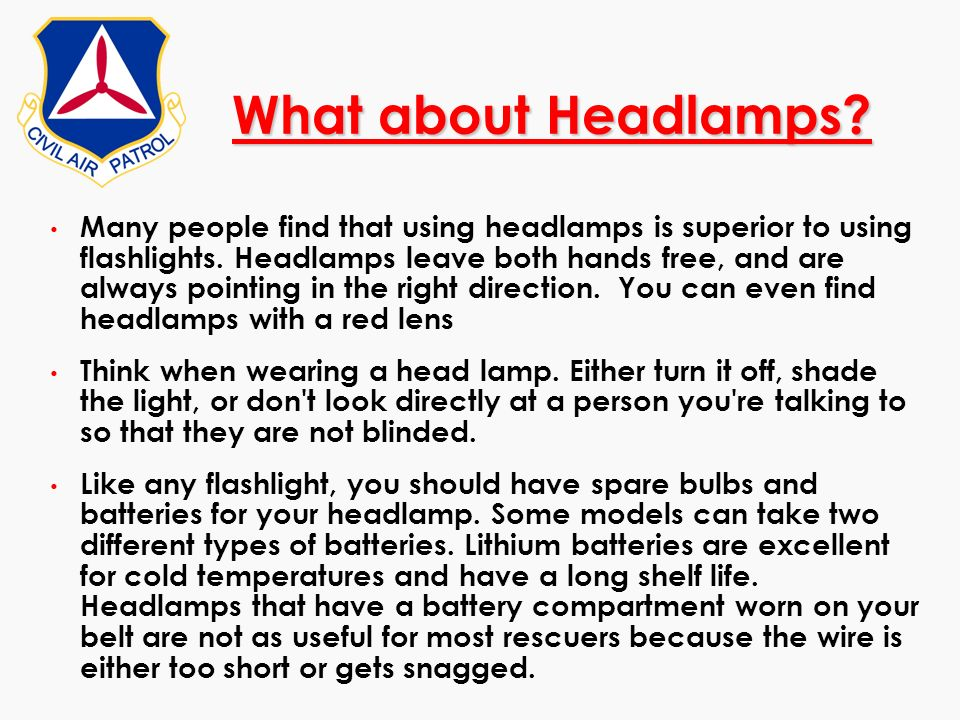 What about Headlamps