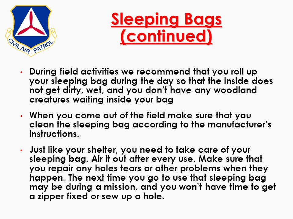 Sleeping Bags (continued)