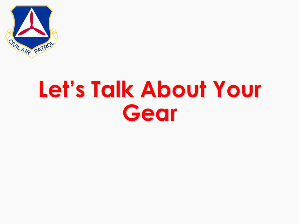 Let's Talk About Your Gear