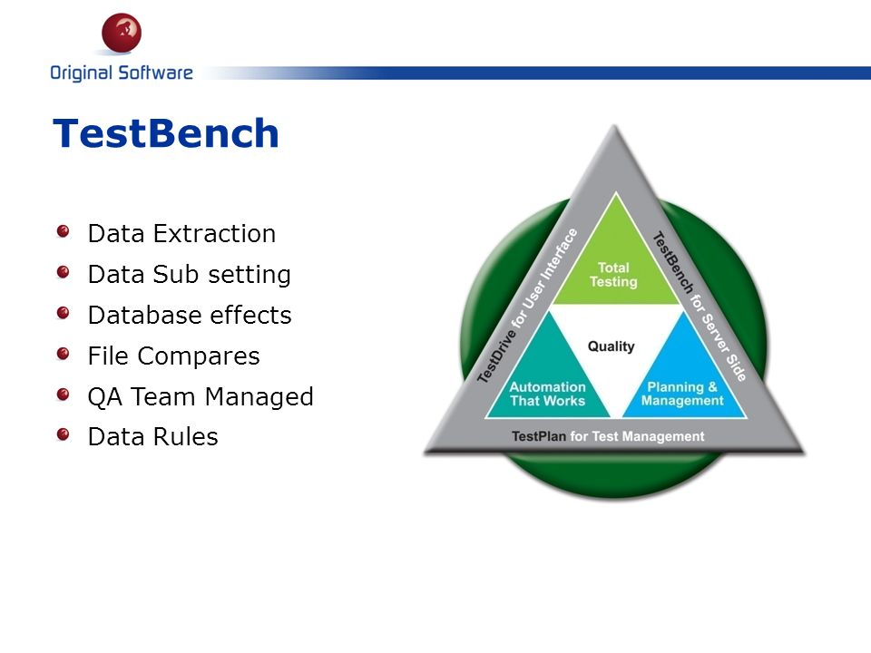 TestBench Data Extraction Data Sub setting Database effects