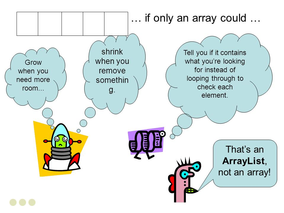 … if only an array could …