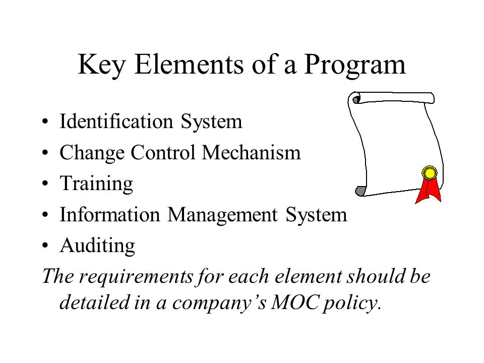 Key Elements of a Program