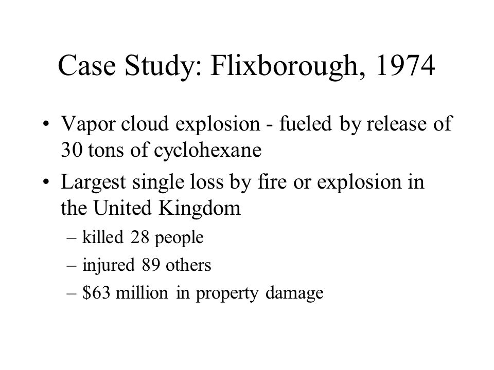 Case Study: Flixborough, 1974