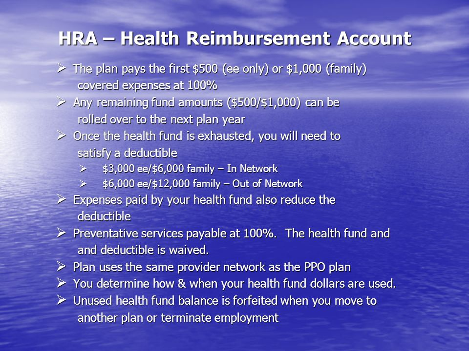 HRA – Health Reimbursement Account