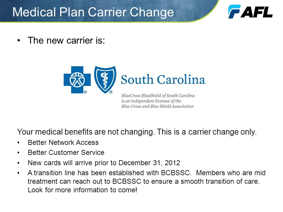 Medical Plan Carrier Change