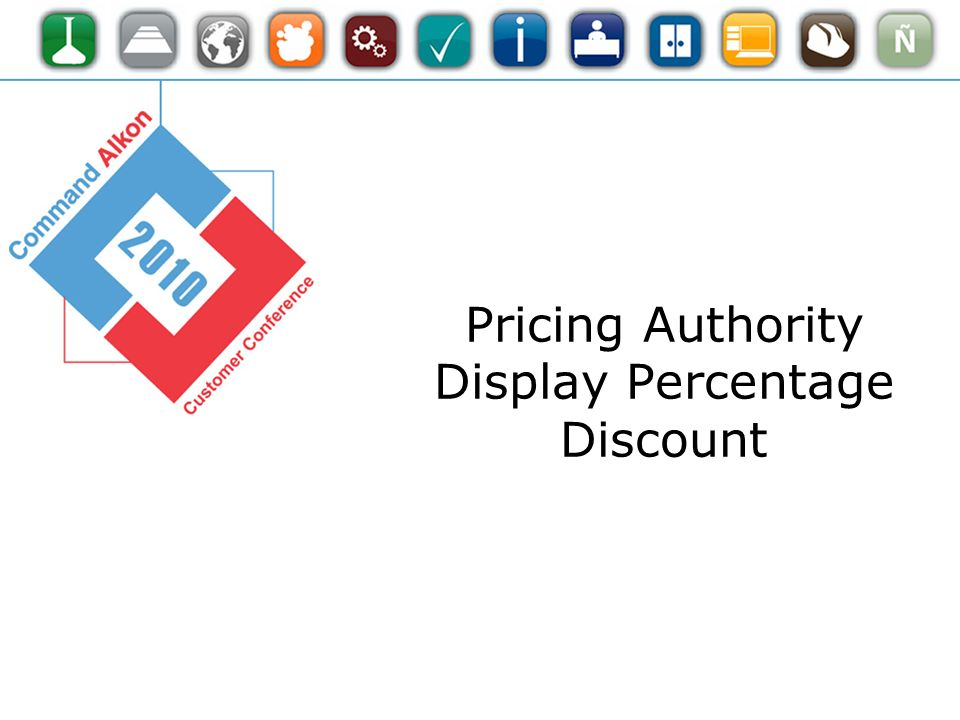 Pricing Authority Display Percentage Discount