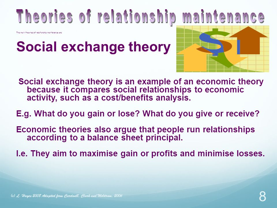 Theories of relationship maintenance