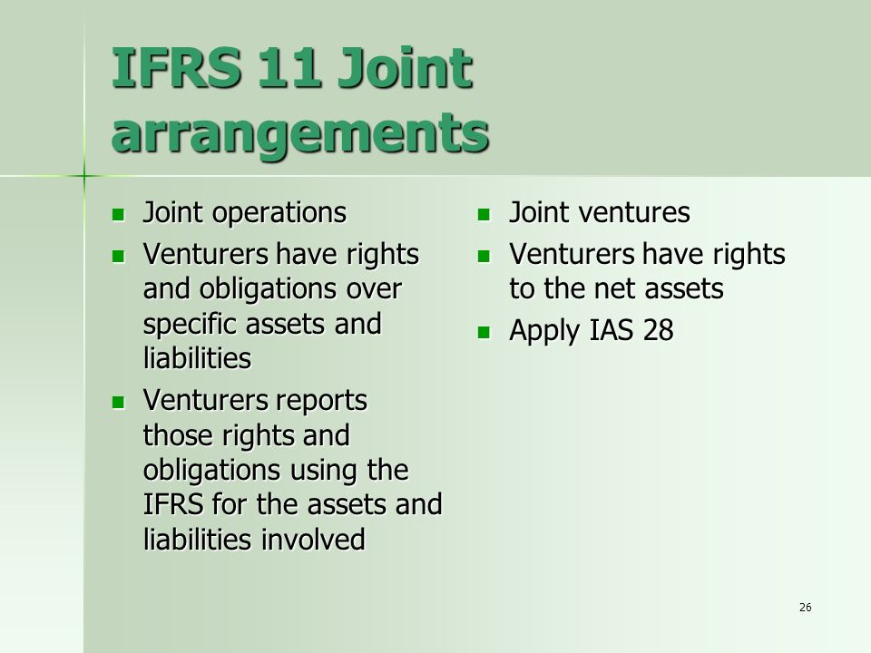 IFRS 11 Joint arrangements