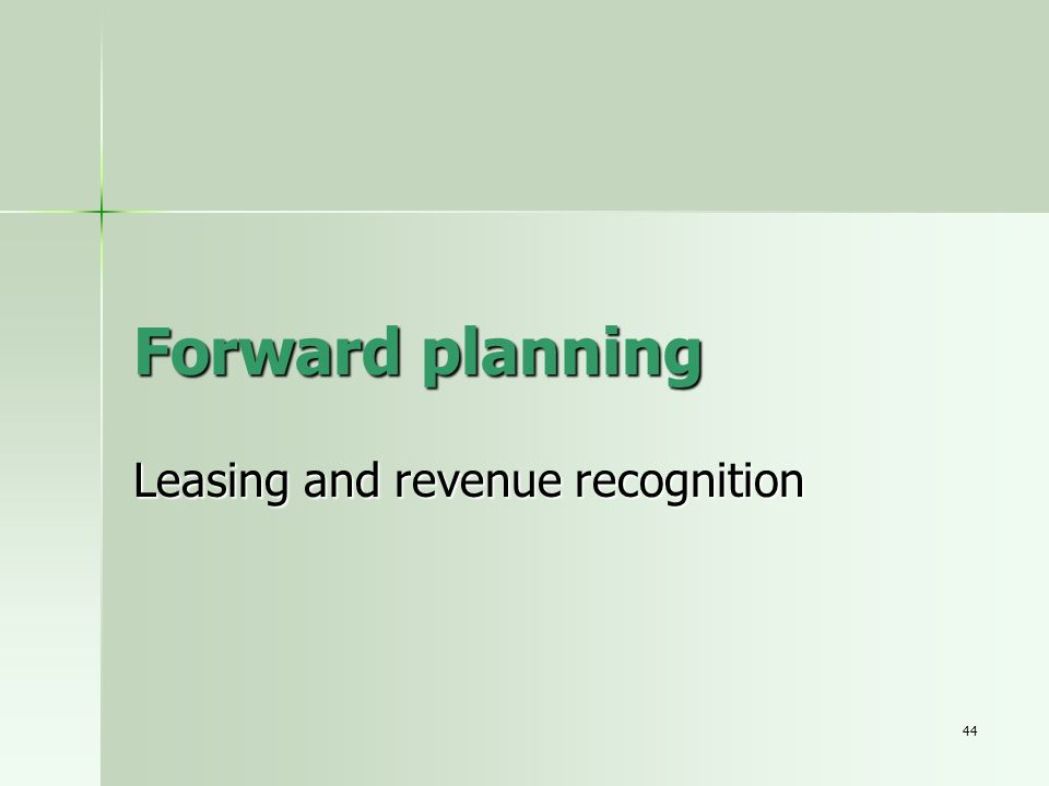 Leasing and revenue recognition