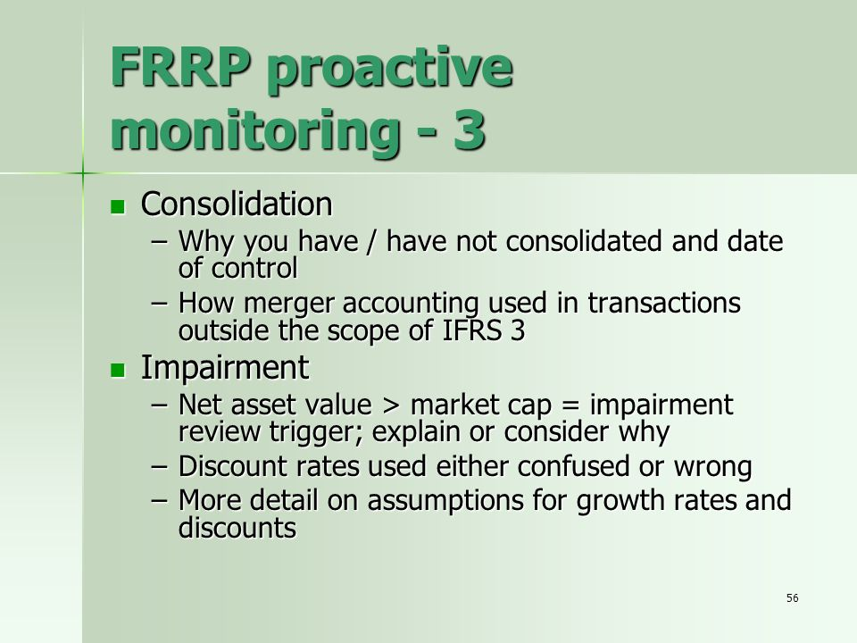 FRRP proactive monitoring - 3